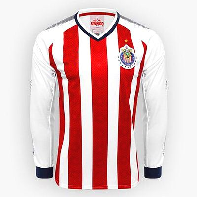 Chivas jerseys ls 17-18 home