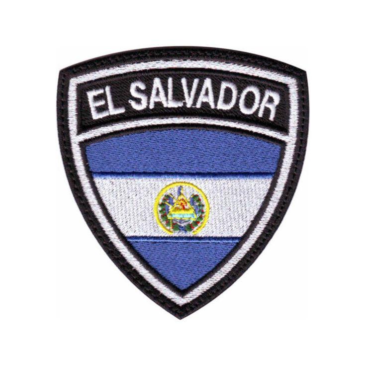 EL SALVADOR FLAG CREST EMBROIDERED PATCH #ThePatchLab