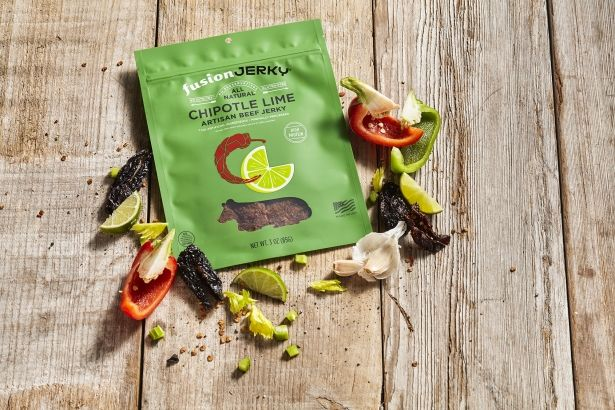 Beef Jerky: Chipotle Lime - 3oz Bag - All Natural & Gluten Free by Fusion Jerky on Gourmly