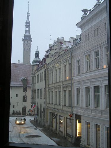 View from of Tallinn Old Town from the Barons Hotel.