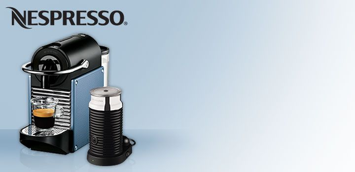 Nespresso DeLonghi Pixie Coffee Machine.