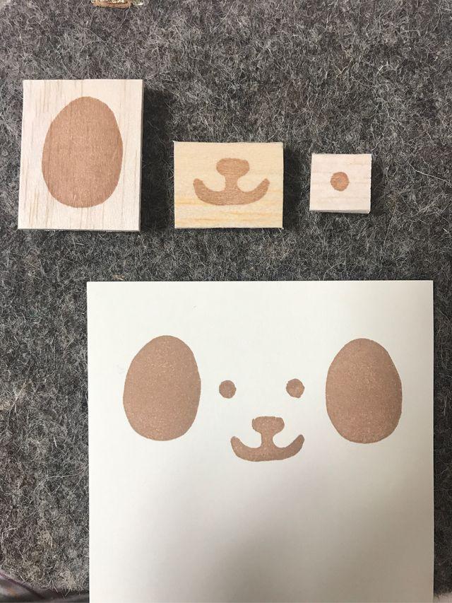 ハンドメイドマーケット+minne(ミンネ) +年賀状に!犬の顔福笑いパーツ
