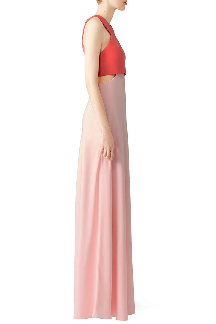 Pink Two-Toned Popover Gown by Jill Jill Stuart for $70   Rent the Runway