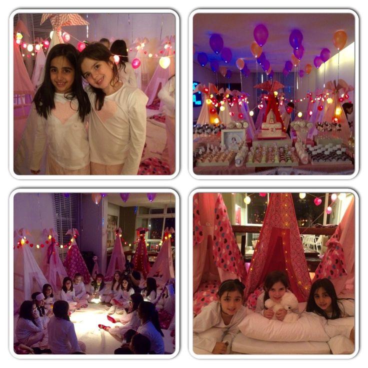 Noite Mágica com as amigas. Assim foi a Festa do Pijama da Bella. Crase for Tents em Ação! #festadopijama#teepee#cabanas#sleepover#girls#onlygirls#BFF#magia#diversão#crazyfortents
