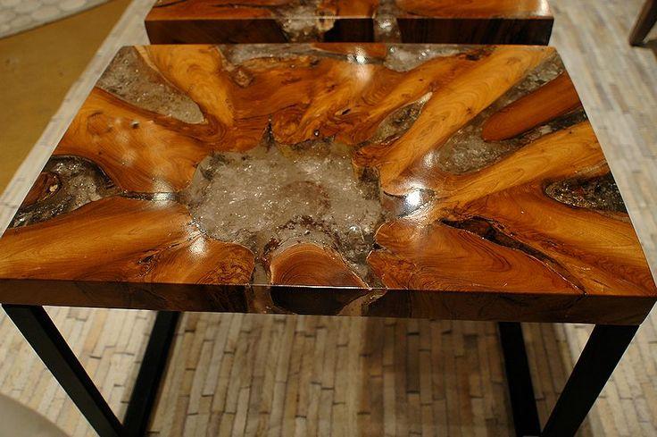 Teak Wood Cracked Resin Inlaid Contemporary Furniture Wood Interior Design Pinterest