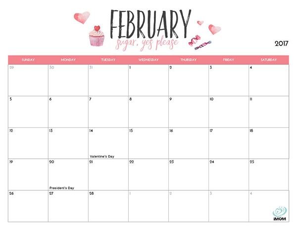 2018 printable calendar for moms free cute crafty printable