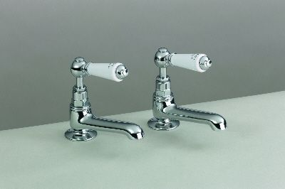 Long Reach Basin Pillar Taps with Levers