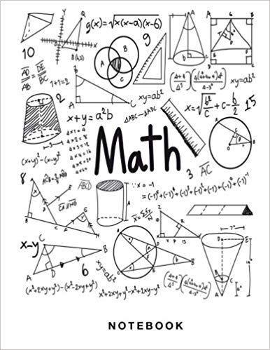 Math Notebook: 1/2 inch Square Graph paper pages and White