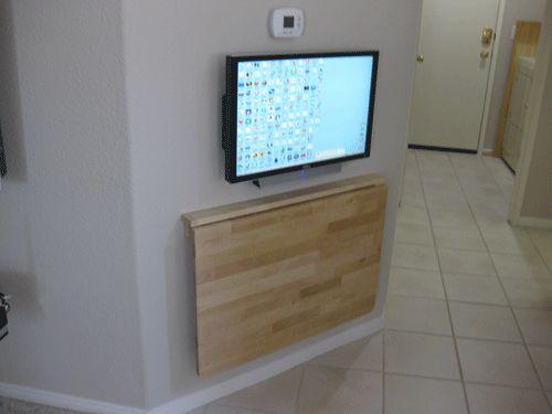 16 best wall mount foldable table images on pinterest. Black Bedroom Furniture Sets. Home Design Ideas