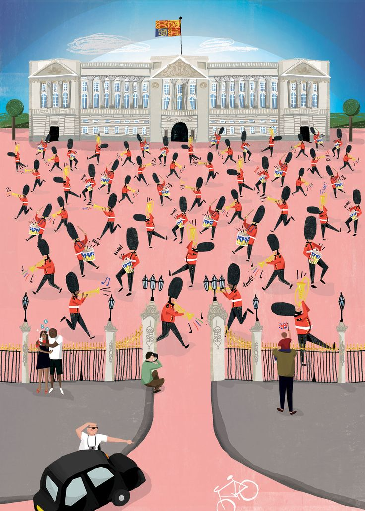 The Queens Guard by Jasmine Hortop. Shortlisted for the Prize for Illustration 2014 with the AOI and London Transport Museum.