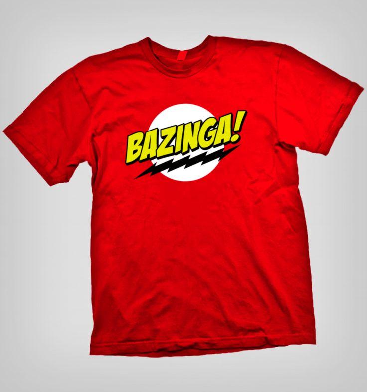 Muestra tu fanatismo Nerd y Geek con esta espectacular polera Bazinga! con The Big Bang Theory