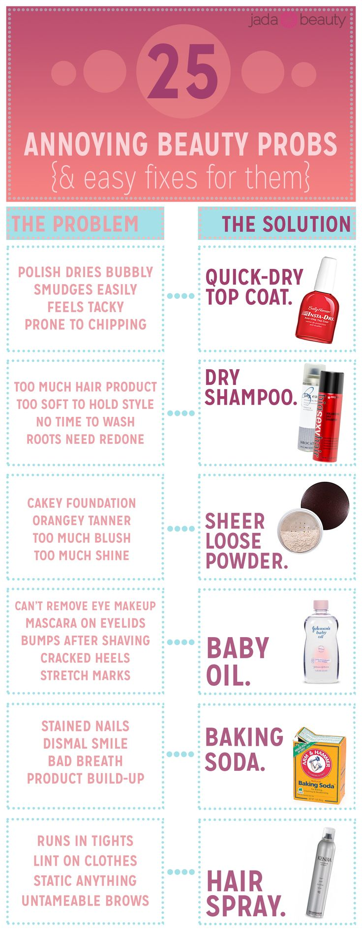 25 annoying beauty problems and how to fix them