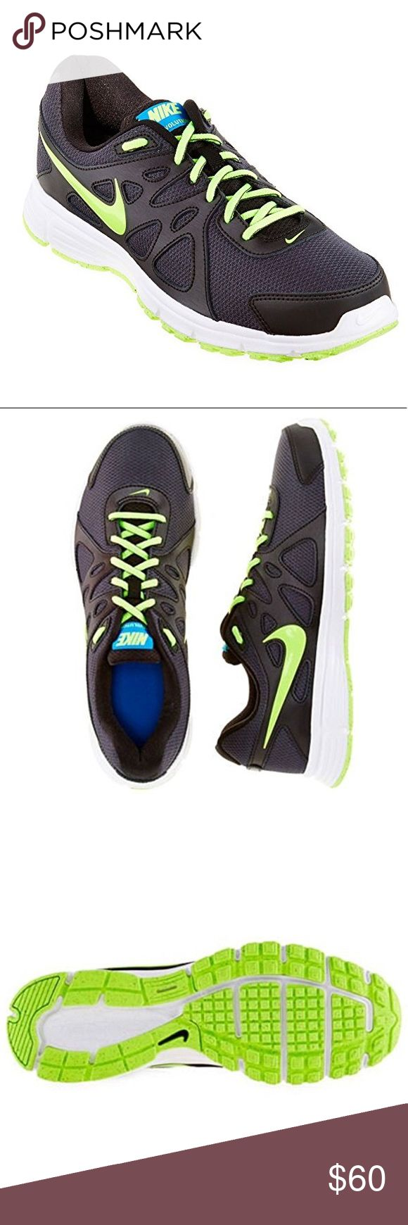 🆕Nike Revolution 2 Men's Running Shoes (13 D(M) These Nike sneakers for kids are eye-catching shoes with a synthetic leather upper. The shoes have rubber outsoles and EVA insole, which provide good shock absorbtion.Features Nike sneakers for Men Perforated synthetic leather upper Rubber outsole EVA insole Nike Shoes Sneakers