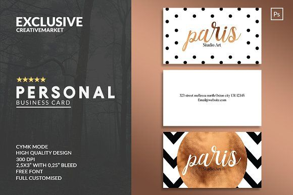 Personal Business Card Templates by John Wayk Co. on @creativemarket