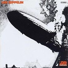 A black-and-white photograph of a zeppelin exploding by george hardie 1969