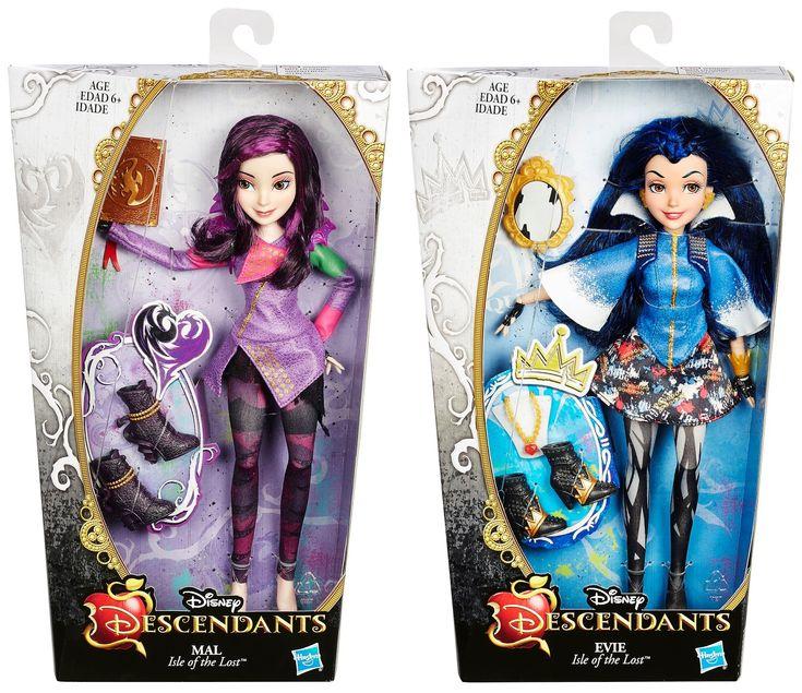 Disney Descendants dolls : Mal and Evie I want them both so BAD!