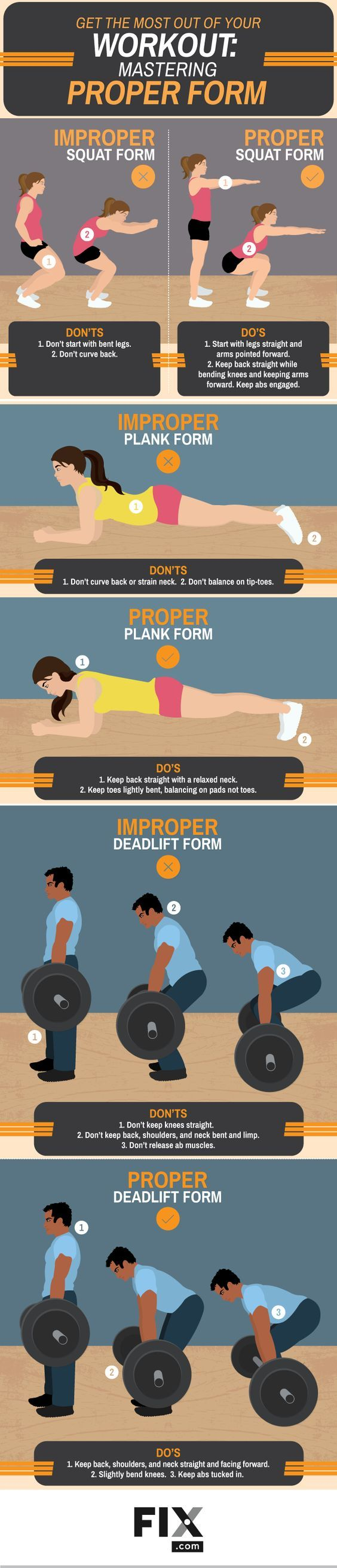 Get the Most Out of Your Workout: Mastering Proper Form #Infographic