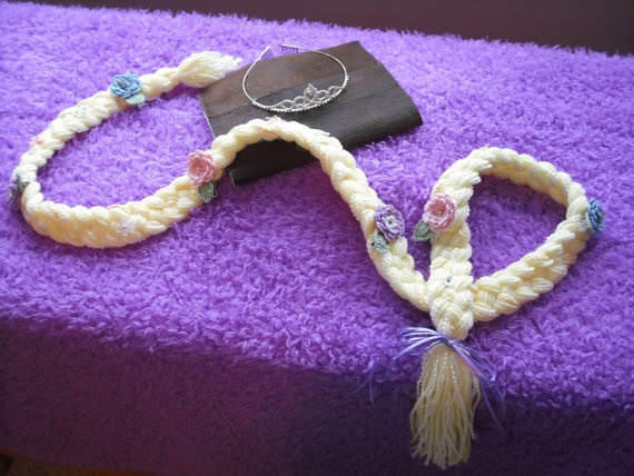 Rapunzel Hair over 4 1/2  ft long with by thesetinytreasures, $18.95