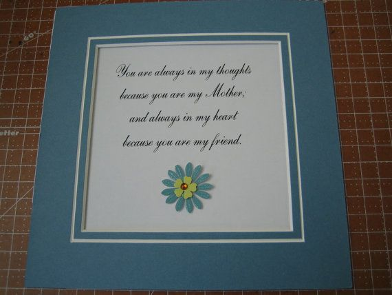Framed quote for Mom  9x9  You are always in my by FiveSistersshop, $18.00Frames Quotes