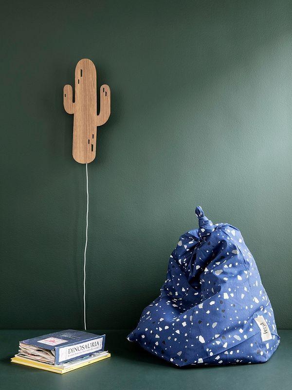 Cactus Lamp - Smoked Oak