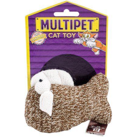 Multipet Sock Pals Catnip Filled Sock Toy 1.5 inch-Fish, Multicolor