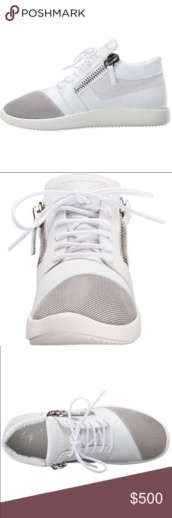 """Megatron"" Giuseppe Sneakers Double zipper Giuseppe Zanotti sneakers. Only worn a couple times. Giuseppe Zanotti Shoes Athletic Shoes"