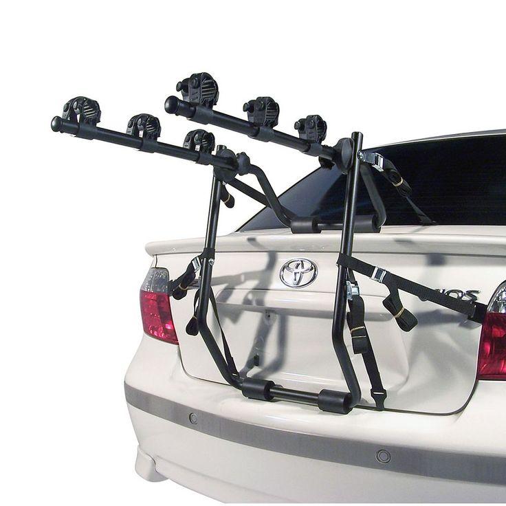 Force Rax Deluxe 3 Bike Trunk Car Rack S.2, Black