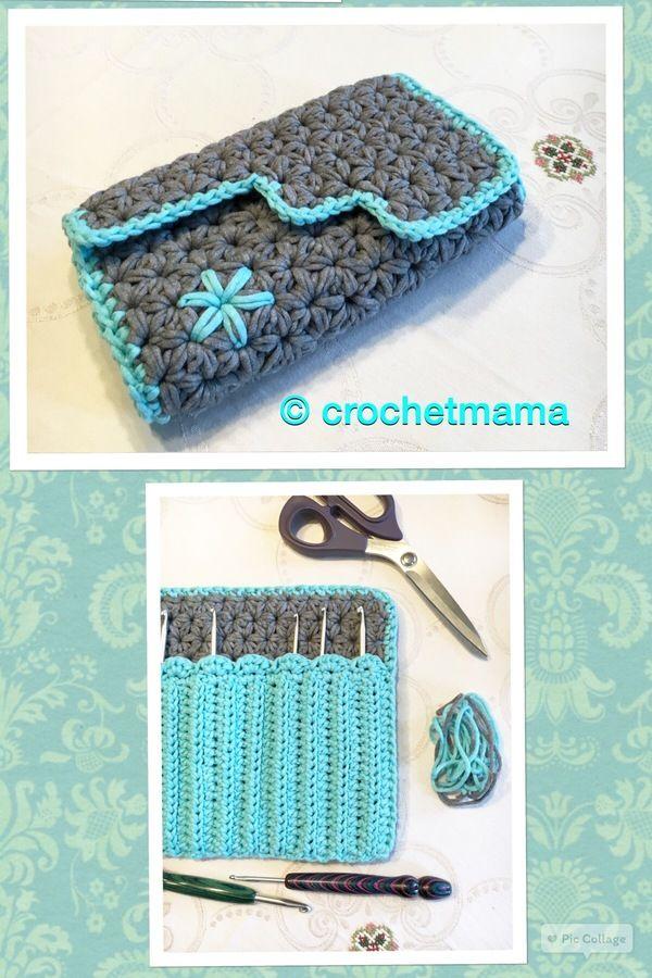 Häkelanleitung Nadeletui Clutch Marlene Im Jasminmuster Crochet