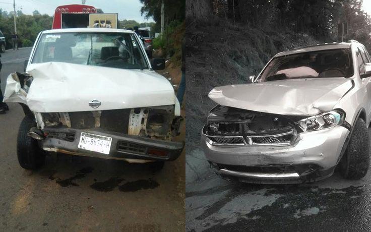 Los hechos se registraron la tarde del miércoles; se impactaron de frente una camioneta Nissan pick up de color blanco y una camioneta Dodge Durango de color gris – Ario ...