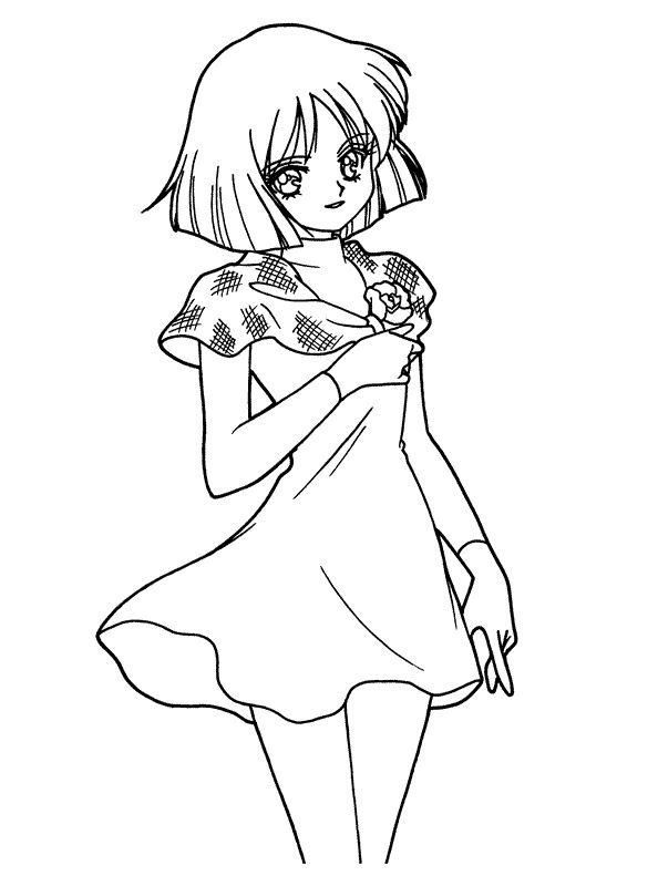 sailor moon coloring pages saturn - photo#20