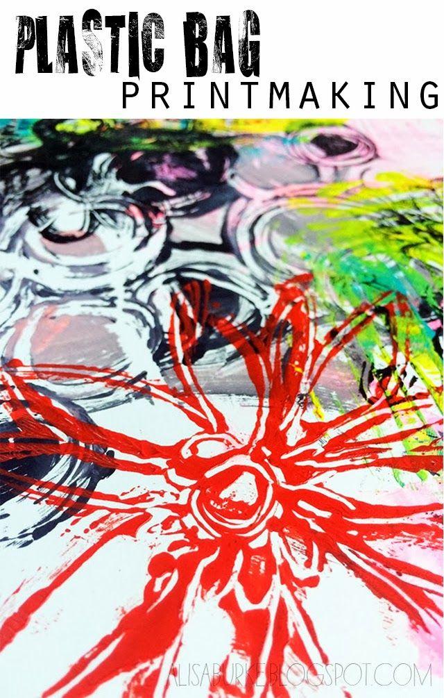 alisaburke: plastic bag printmaking-AWESOME!!!! Mono printing on ziplock bags