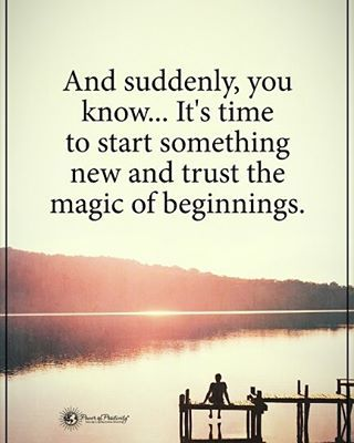 9,294 vind-ik-leuks, 42 reacties - Positive Motivational Quotes (@powerofpositivity) op Instagram: 'And suddenly, you know... It's time to start something new and trust the magic of beginnings.�