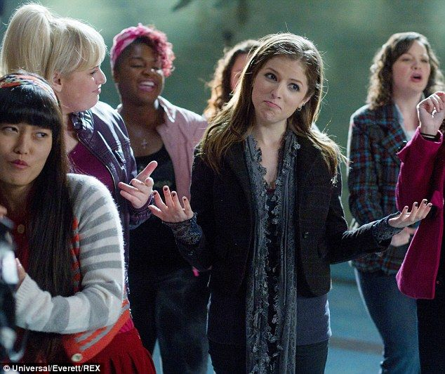 Sequel coming: Anna is shown with Hana Mae Lee, Rebel Wilson and Ester Dean in the 2012 co...