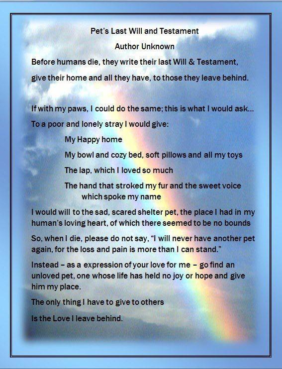 Pet's last will and testament #lastwillandtestament | Last Will and