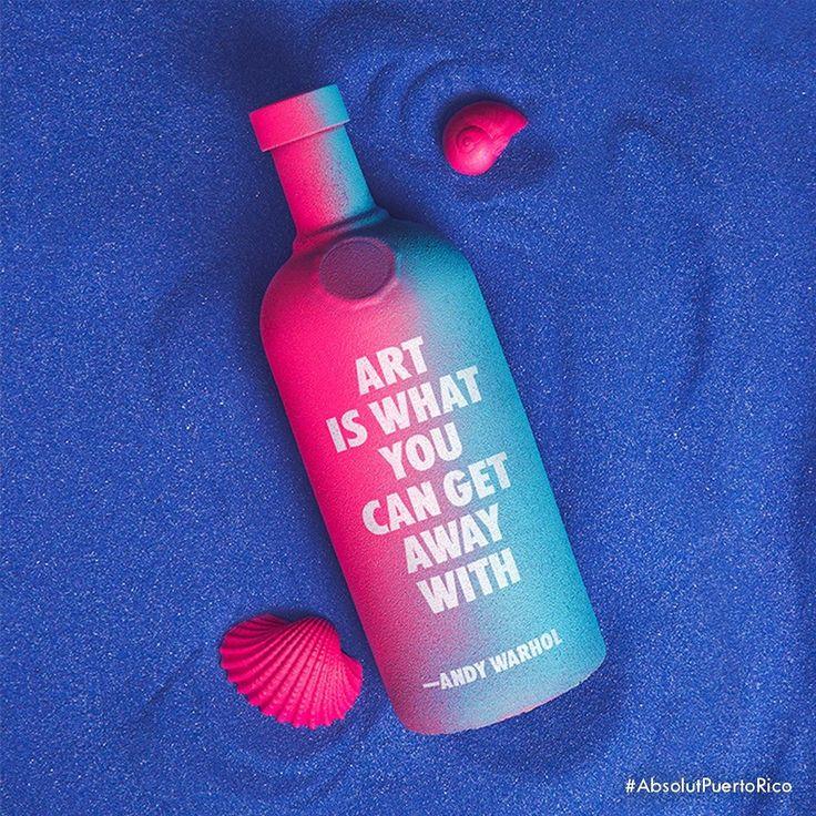 19 días antes de Spring Break: 7/19 Absolut Message in a bottle. Cómo?  2oz. Absolut Vodka  3/4oz. Cordial de Flor de saúco  1oz. Jugo de Limón  Agua tónica  1 regaliz azul  #ApostandoALaSuerte con #AbsolutPuertoRico #AndyWarhol #AbsolutArt