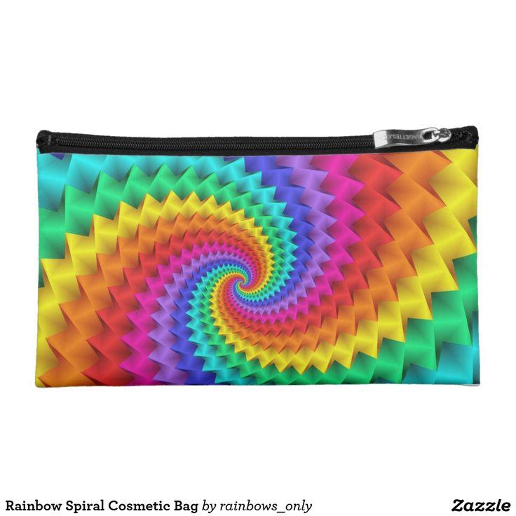 Rainbow Spiral Cosmetic Bag