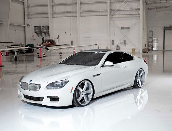BMW 650i with Vossen VVS-CV3 wheels.