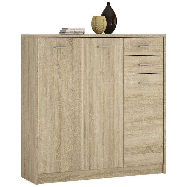 Perfect  You Tall Door Drawer Cupboard In Sonoma Oak The spacious twin drawers