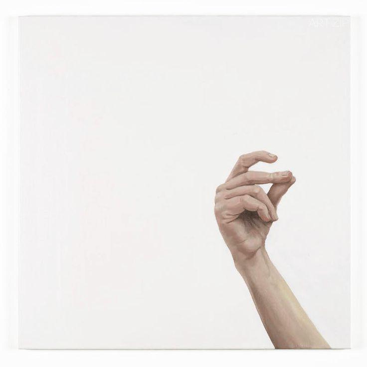 Ellen Macdonald, 01 Sensible Heat (hand) Oil on canvas 61 x 61cm