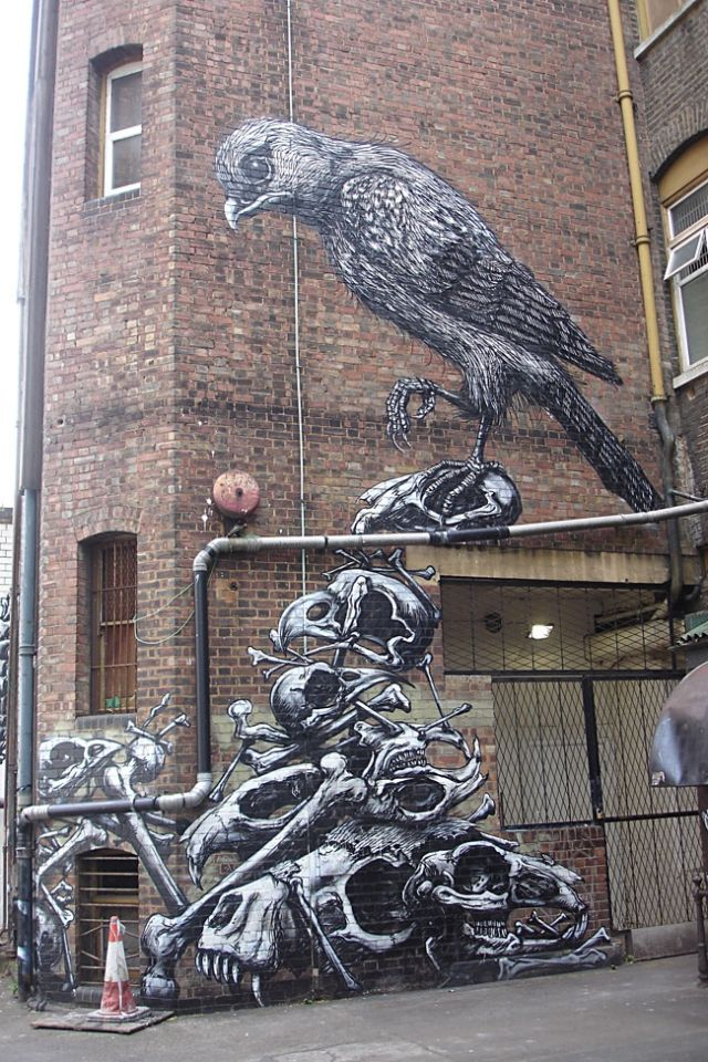 Best Street Art Images On Pinterest Artists Fishing And - Awesome mechanical shark mural phlegm