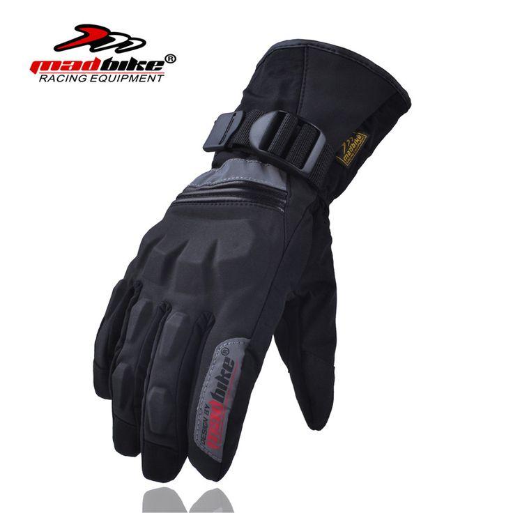 Madbike gloves men full finger motorcycle gloves winter luva waterproof motorbike luvas para ciclismo moto guantes black