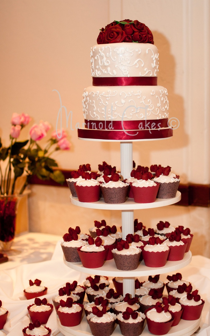A debutante's cake and cupcake arrangement I made on 2/17/2012.