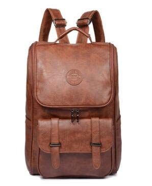 8ac8631bb5 Backpacks for Men Bag PU Black Leather Men s Shoulder Bags Fashion Male  Business Casual Teenage School