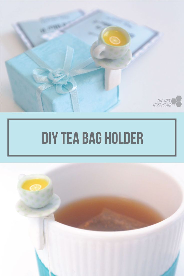 DIY cute tea bag holder with personalized tea bags. The tiny honeycomb blog