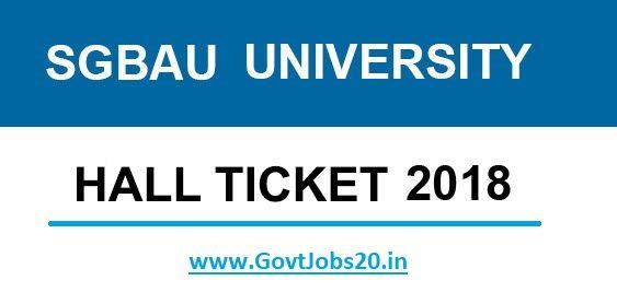 SGBAU Hall Ticket 2018 | Admit Card | Hall, University hall