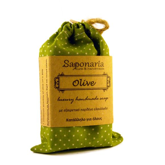 Olive soap has at least 80% Cretan extra virgin olive oil and a small amount of coconut oil. Very gentle even for eczema and psoriasis