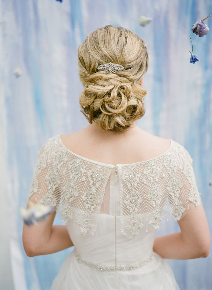 Bridal gown detail. Photo by Esther Louise Photography (via Every Last Detail).