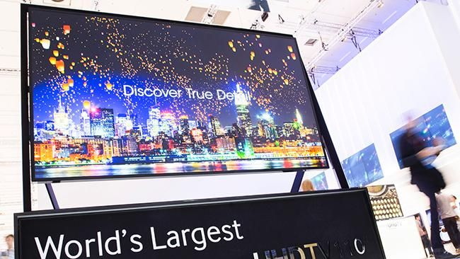 world's largest television--110 inches with ultra high def OLED screen