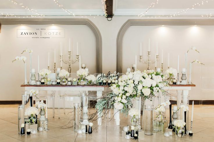 Silver, White, Green wedding with raw wooden tables. Brides tables, Bridal Table. Silver candelabras, Antique silver decor, elegant wedding, classic elegance, luxury wedding. Luxury wedding flowers. Photographer: Genevieve Fundaro