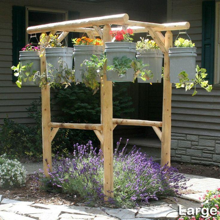 log planters garden | Hanging garden planters help you display your garden better
